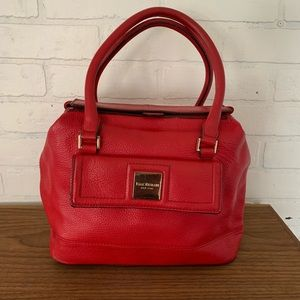 Red Leather Satchel